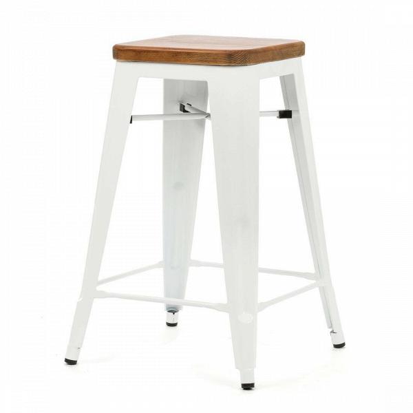 Барный стул Marais Color 1Полубарные<br>Хорошая мебель — это мебель стильная, удобная и надежная, простая в уходе. Так размышлял Ксавье Пошар, французский дизайнер ХХ века, и разработал целую серию предметов мебели, отвечающую этим запросам. Представляем вам барный стул Marais Color 1 с сиденьем из натурального дерева.<br><br><br> Тонкая гальванизированная сталь с порошковым напылением отлично воспринимает лакокрасочное покрытие, позволяя разнообразить палитру цветов, к тому же она очень долговечна. Продуманный дизайн предмета обесп...<br><br>stock: 15<br>Высота: 65<br>Ширина: 44<br>Ширина сиденья: 30<br>Глубина: 44<br>Глубина сиденья: 30<br>Тип материала каркаса: Сталь<br>Материал сидения: Массив ореха<br>Цвет сидения: Орех<br>Тип материала сидения: Дерево<br>Цвет каркаса: Белый<br>Дизайнер: Xavier Pauchard