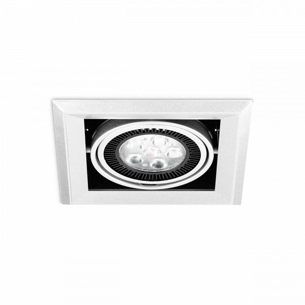 Встраиваемый потолочный светильник Grille Lamp 1Встраиваемые<br><br><br>stock: 27<br>Высота: 13,5<br>Ширина: 20,3<br>Длина: 20,3<br>Количество ламп: 6<br>Материал абажура: Алюминий<br>Материал арматуры: Металл<br>Мощность лампы: 3<br>Ламп в комплекте: Нет<br>Напряжение: 220<br>Тип лампы/цоколь: CREE LED<br>Цвет абажура: Черный