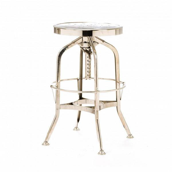 Барный стул Toledo GunmetalБарные<br>Дизайнерский стальной барный стул Toledo Gunmetal (Толедо Ганметал) без спинки на узких ножках от Cosmo (Космо). <br>Оригинальный дизайн барного стула Toledo Gunmetal разработан еще в начале XX столетия. Создатели стула ориентировались на мастерские, производственные цеха и военные учреждения. Вероятно, из-за задумки производителейВготовое изделие стало выглядетьВв стиле стимпанк — все эти зубцы, острые углы и блеск металла говорят именно об этомВальтернативном стиле викторианско...<br><br>stock: 45<br>Высота: 62-73<br>Диаметр: 42<br>Тип материала каркаса: Сталь<br>Цвет каркаса: Никель