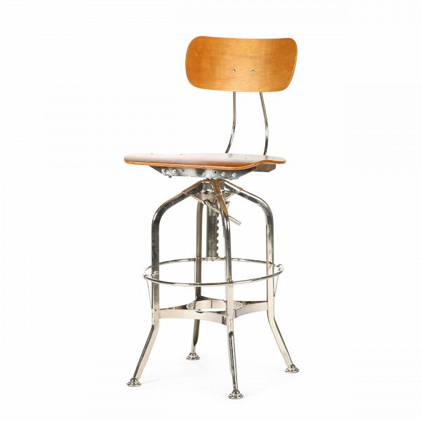 Барный стул Toledo WoodБарные<br>Дизайнерский цветной барный стул Toledo Wood (Толедо Вуд) из фанеры на черных ножках от Cosmo (Космо). <br><br> Целевыми помещениями для использования стульев ToledoВизначально были офисы, заводы, аптеки и тому подобные места. Однако под влиянием веяний модных дизайнерских тенденций появилась новая модель — для ресторанов, молодежных клубов и баров.<br><br><br> Замысловатый каркас из стали, выполненный в черном или металлическом цвете, представлен системой «паучьи лапки», как назвали это сами ди...<br><br>stock: 3<br>Высота: 97<br>Высота сиденья: 64-75<br>Ширина: 42<br>Глубина: 48<br>Тип материала каркаса: Сталь<br>Материал сидения: Фанера, шпон гевеи<br>Цвет сидения: Коричневый<br>Тип материала сидения: Дерево<br>Цвет каркаса: Никель