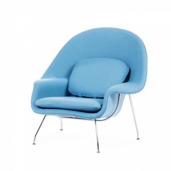 Кресло WombИнтерьерные<br>Дизайнерское интерьерное кресло Womb (Вумб) с округлой спинкой на металлических ножках от Cosmo (Космо).<br><br>stock: 4<br>Высота: 90,5<br>Высота сиденья: 38<br>Ширина: 97<br>Глубина: 81<br>Материал обивки: Хлопок, Лен<br>Тип материала каркаса: Сталь нержавеющя<br>Коллекция ткани: Ray Fabric<br>Тип материала обивки: Ткань<br>Цвет обивки: Светло-голубой<br>Цвет каркаса: Хром