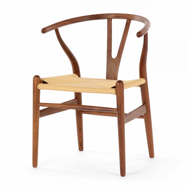 Стул Wishbone окрашеныйИнтерьерные<br>Дизайнерский деревянный стул Wishbone (Уишбон) с бумажным сиденьем от Cosmo (Космо).<br><br> Стул Wishbone был разработан вВ1949 году передовым датским дизайнером мебели Хансом Вегнером. Стул Wishbone был создан под впечатлением отВпросмотра классических портретов датских торговцев, сидящих наВкитайских стульях династии Мин. Свое название стул Wishbone («вилка») получил заВспецифическую форму спинки сиденья.<br><br><br> Также известный как CH24, стул Wishbone окрашенный широко испо...<br><br>stock: 2<br>Высота: 73,5<br>Высота сиденья: 42,5<br>Ширина: 55,5<br>Глубина: 53,5<br>Материал каркаса: Массив ореха<br>Тип материала каркаса: Дерево<br>Цвет сидения: Бежевый<br>Тип материала сидения: Корд бумажный<br>Цвет каркаса: Орех<br>Дизайнер: Hans Wegner
