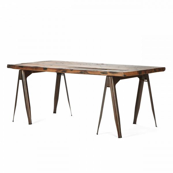 Обеденный стол Daphne OldwoodОбеденные<br>Дизайнерская состаренный винтажный обеденный стол Daphne Oldwood со столешницей из дерева на металлических ножках от Cosmo (Космо).<br> Стол Daphne Oldwood — это гармоничное сочетание натурального дерева и металла. Если обстановка вашего дома тяготеет к практичности индустриального стиля и вам чужд сверкающий глянец, то такой стол придется вам по вкусу.<br><br><br>         Для изготовления массивных раздвоенных ножек используется сталь, окрашенная в черный, серый или цвет красной ржавчины. Каждая дво...<br><br>stock: 0<br>Высота: 74,5<br>Ширина: 190<br>Диаметр: 90<br>Цвет ножек: Ржавчина красная<br>Цвет столешницы: Антикварный<br>Материал столешницы: Массив ивы<br>Тип материала столешницы: Дерево<br>Тип материала ножек: Сталь<br>Дизайнер: Xavier Pauchard