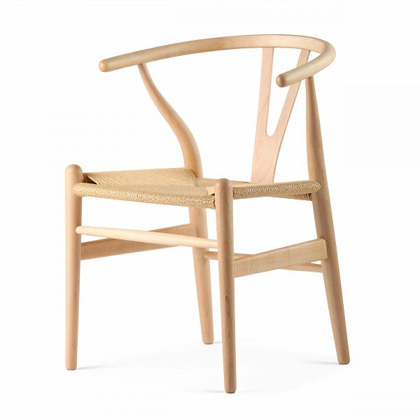 Стул Wishbone окрашеныйИнтерьерные<br>Дизайнерский деревянный стул Wishbone (Уишбон) с бумажным сиденьем от Cosmo (Космо).<br><br> Стул Wishbone был разработан вВ1949 году передовым датским дизайнером мебели Хансом Вегнером. Стул Wishbone был создан под впечатлением отВпросмотра классических портретов датских торговцев, сидящих наВкитайских стульях династии Мин. Свое название стул Wishbone («вилка») получил заВспецифическую форму спинки сиденья.<br><br><br> Также известный как CH24, стул Wishbone окрашенный широко испо...<br><br>stock: 0<br>Высота: 73,5<br>Высота сиденья: 42,5<br>Ширина: 55,5<br>Глубина: 53,5<br>Материал каркаса: Массив клена<br>Тип материала каркаса: Дерево<br>Цвет сидения: Бежевый<br>Тип материала сидения: Корд бумажный<br>Цвет каркаса: Натуральный<br>Дизайнер: Hans Wegner