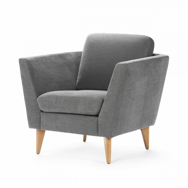 Кресло MyntaИнтерьерные<br>Дизайнерское глубокое удобное кресло Mynta (Минта) на деревянных ножках от Sits (Ситс).<br><br><br> Кресло Mynta имеет любимую многими дизайнерами строгую классическую форму и в то же время обладает едва уловимыми шведскими чертами, что характерно для большинства творений дизайнеров мебельной компании Sits. Кресло Mynta имеет глубокое сиденье и высокие сплошные подлокотники, что придает сидящему ощущение защищенности и физического комфорта. А высокие ножки кресла визуально увеличивают пространств...<br><br>stock: 0<br>Высота: 82<br>Высота сиденья: 42<br>Ширина: 86<br>Глубина: 87<br>Цвет ножек: Дуб<br>Материал обивки: Хлопок, Лен<br>Коллекция ткани: Категория ткани II<br>Тип материала обивки: Ткань<br>Тип материала ножек: Дерево<br>Цвет обивки: Серый