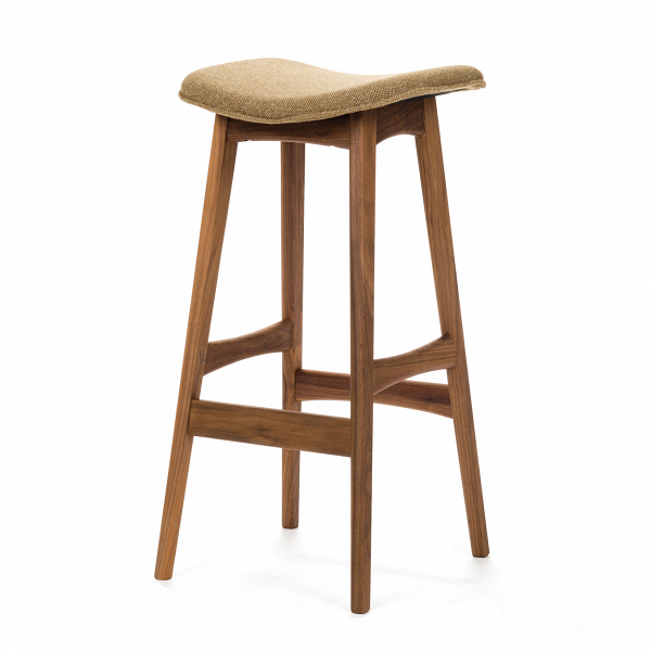 Барный стул Allegra высота 77Барные<br>Дизайнерский барный стул Allegra (Аллегра) на деревянном каркасе без спинки в различных цветах от Cosmo (Космо).Это универсальный стул для дома и частных заведений. Он отлично подойдет как для баров и ресторанов, так и для уютных гостиных и кухонь. Цвет натурального дерева и простота деталей делают его по-настоящему лаконичным, благодаря чему он прекрасно впишется в интерьеры различной стилевой направленности.<br> <br> Стройный силуэт оригинального барного стула Allegra высота 77 составляют прямы...<br><br>stock: 0<br>Высота: 76,5<br>Ширина: 40<br>Глубина: 38,5<br>Цвет ножек: Орех<br>Материал ножек: Массив ореха<br>Материал сидения: Шерсть, Нейлон<br>Цвет сидения: Оливковый<br>Тип материала сидения: Ткань<br>Коллекция ткани: B Fabric<br>Тип материала ножек: Дерево