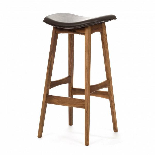 Барный стул Allegra высота 77Барные<br>Дизайнерский барный стул Allegra (Аллегра) на деревянном каркасе без спинки в различных цветах от Cosmo (Космо).Это универсальный стул для дома и частных заведений. Он отлично подойдет как для баров и ресторанов, так и для уютных гостиных и кухонь. Цвет натурального дерева и простота деталей делают его по-настоящему лаконичным, благодаря чему он прекрасно впишется в интерьеры различной стилевой направленности.<br> <br> Стройный силуэт оригинального барного стула Allegra высота 77 составляют прямы...<br><br>stock: 0<br>Высота: 76,5<br>Ширина: 40<br>Глубина: 38,5<br>Цвет ножек: Орех<br>Материал ножек: Массив ореха<br>Цвет сидения: Шоколадно-коричневый<br>Тип материала сидения: Кожа<br>Коллекция ткани: Standart Leather<br>Тип материала ножек: Дерево