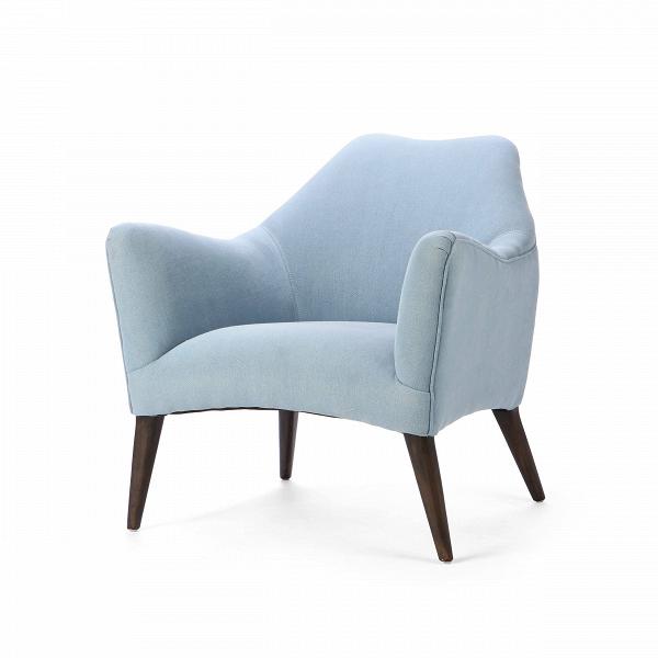 Кресло SvenИнтерьерные<br>Дизайнерское красивое анатомическое удобное кресло Sven (Свен) на деревянных ножках от Cosmo (Космо).<br><br><br> Дизайнеры компании Cosmo не устают радовать нас своими замечательными творениями. Представленное здесь кресло Sven обязательно придется по вкусу любому ценителю современных дизайнерских решений. Кресло имеет интересную форму, которая повторяет анатомические особенности тела человека, за счет чего вы сможете прекрасно отдохнуть в нем. Кресло предлагается в двух вариантах: голубом и бе...<br><br>stock: 5<br>Высота: 76<br>Высота сиденья: 43<br>Ширина: 76<br>Глубина: 79<br>Цвет ножек: Темно-коричневый<br>Материал ножек: Массив березы<br>Материал обивки: Хлопок, Лен<br>Тип материала обивки: Ткань<br>Тип материала ножек: Дерево<br>Цвет обивки: Голубой