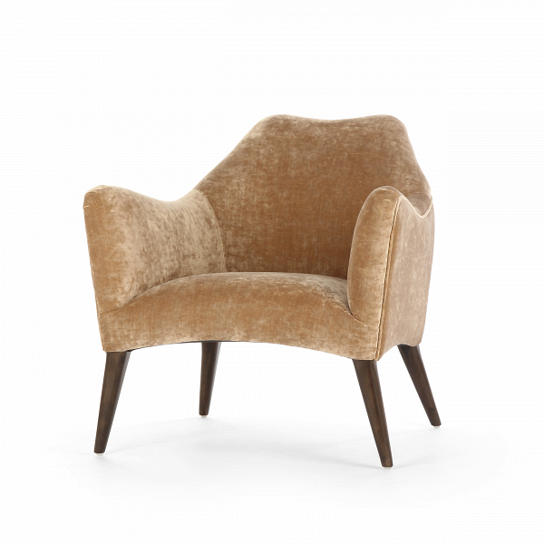 Кресло SvenИнтерьерные<br>Дизайнерское красивое анатомическое удобное кресло Sven (Свен) на деревянных ножках от Cosmo (Космо).<br><br><br> Дизайнеры компании Cosmo не устают радовать нас своими замечательными творениями. Представленное здесь кресло Sven обязательно придется по вкусу любому ценителю современных дизайнерских решений. Кресло имеет интересную форму, которая повторяет анатомические особенности тела человека, за счет чего вы сможете прекрасно отдохнуть в нем. Кресло предлагается в двух вариантах: голубом и бе...<br><br>stock: 10<br>Высота: 76<br>Высота сиденья: 43<br>Ширина: 76<br>Глубина: 79<br>Цвет ножек: Коричневый<br>Материал ножек: Массив березы<br>Материал обивки: Полиэстер, Вискоза, Хлопок<br>Тип материала обивки: Ткань<br>Тип материала ножек: Дерево<br>Цвет обивки: Бежевый