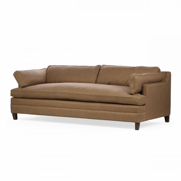 Диван Dale раскладнойРаскладные<br>Дизайнеры компании Cosmo разработали диван с весьма универсальным дизайном, который сможет легко вписаться практически в любой интерьер. Диван Dale раскладной имеет приятные округлые формы и теплый, насыщенный темно-коричневый цвет. У дивана небольшие размеры, благодаря чему он станет замечательным украшением небольшого помещения и подарит вам прекрасный, наполненный теплом и уютом отдых.<br><br><br> Диван Dale раскладной оснащен удобным в использовании раскладным механизмом, благодаря которому...<br><br>stock: 2<br>Высота: 86<br>Высота сиденья: 56<br>Глубина: 96.5<br>Длина: 218<br>Цвет ножек: Темно-коричневый<br>Материал ножек: Массив березы<br>Материал обивки: Вискоза, Полиэстер, Лен<br>Тип материала обивки: Ткань<br>Тип материала ножек: Дерево<br>Цвет обивки: Коричневый