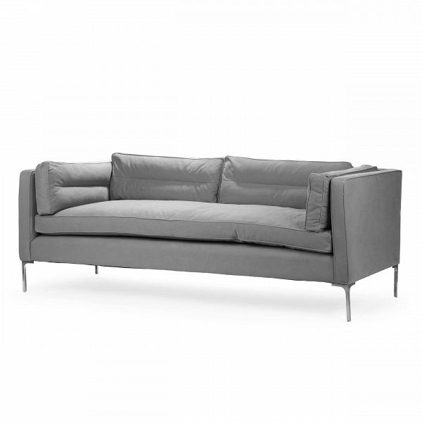 Диван BarnesТрехместные<br>Дизайнерский серый диван Barnes (Барнес) прямоугольной формы на металлических ножках от Cosmo (Космо).<br><br><br> Диван Barnes — это классика мягкой офисной мебели, благодаря которой офисы и приемные комнаты становятся необычайно уютными и дружелюбными. Диван имеет строгую форму и четкие линии, что не мешает ему быть очень удобным для отдыха. Компания Cosmo предлагает на выбор два варианта расцветки: серый и темно-серый, которые как нельзя лучше подойдут для строгих просторных офисных помещений....<br><br>stock: 0<br>Высота: 76<br>Высота сиденья: 53<br>Глубина: 95<br>Длина: 212<br>Цвет ножек: Хром<br>Материал обивки: Хлопок<br>Тип материала обивки: Ткань<br>Тип материала ножек: Металл<br>Цвет обивки: Серый