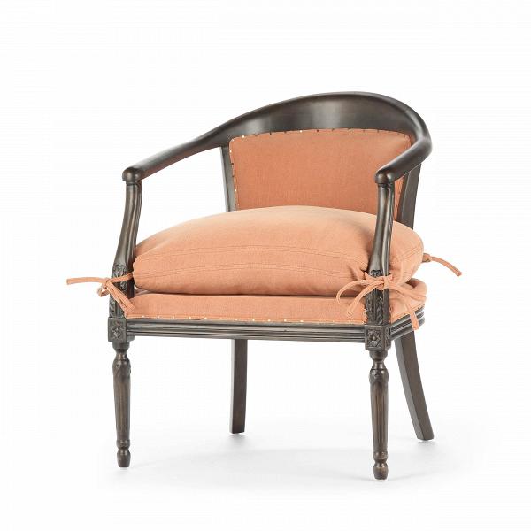 Кресло LinnИнтерьерные<br>Дизайнерское интерьерное мягкое кресло Linn (Линн) из дерева с тканевой обивкой от Cosmo (Космо).<br><br><br> Дизайнеры компании Cosmo не устают удивлять и радовать нас своими новыми разработками. Кресло Linn, несмотря на свою, казалось бы, простую форму, сразу же бросается в глаза: контраст между цветами каркаса и обивки, интересная, элегантная конструкция и оригинальные, симпатичные завязки не оставят вас равнодушным. Кресло Linn может легко влиться в дизайн интерьера в стиле прованс, кантри, ...<br><br>stock: 10<br>Высота: 79<br>Ширина: 63<br>Глубина: 63<br>Цвет ножек: Темно-коричневый<br>Материал ножек: Массив березы<br>Материал обивки: Хлопок, Лен<br>Тип материала обивки: Ткань<br>Тип материала ножек: Дерево<br>Цвет обивки: Красный