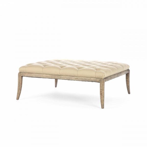 Оттоманка WaldenПуфы и оттоманки<br>Оттоманка Walden представляет собой элегантную конструкцию, состоящую из деревянного каркаса и мягкой обивки, украшенной традиционной каретной стяжкой. Он весьма практично и оригинально смотрится в интерьерах современного типа. ОттоманкаВпредставлена в двух вариантах: обивка из темно-бежевого хлопка и черной кожи.<br><br><br>     Для создания оттоманки Walden дизайнеры выбрали особенно прочный материал — дубовую древесину, которая непременно продлит срок службы изделия и порадует вас своей про...<br><br>stock: 2<br>Высота: 41<br>Ширина: 102<br>Цвет ножек: Дуб<br>Материал ножек: Массив дуба<br>Материал сидения: Хлопок<br>Цвет сидения: Темно-бежевый<br>Тип материала сидения: Ткань<br>Тип материала ножек: Дерево