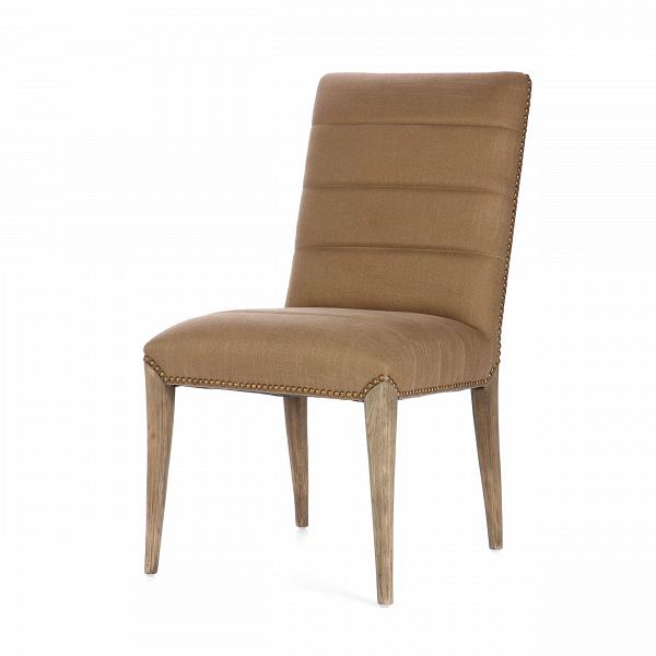 Стул FabioИнтерьерные<br>Дизайнерский классический коричневый мягкий стул Fabio (Фабио) с обивкой из вискозы от Cosmo (Космо).<br><br>    Стул Fabio благодаря своему минималистичному оформлению легко и непринужденно дополнит интерьер в спокойных тонах классического или современного стиля. Простой дизайн изделия дополнен привлекательной строчкой из красивых клепок, расположенных по краю обивки.<br><br><br> Стул Fabio изготовлен из дубовой древесины, которая давно известна дизайнерам интерьеров как один из самых прочных и долгов...<br><br>stock: 20<br>Высота: 90<br>Высота сиденья: 48<br>Ширина: 51<br>Глубина: 61<br>Цвет ножек: Темный дуб<br>Материал ножек: Массив дуба<br>Материал сидения: Вискоза<br>Цвет сидения: Коричневый<br>Тип материала сидения: Ткань<br>Тип материала ножек: Дерево