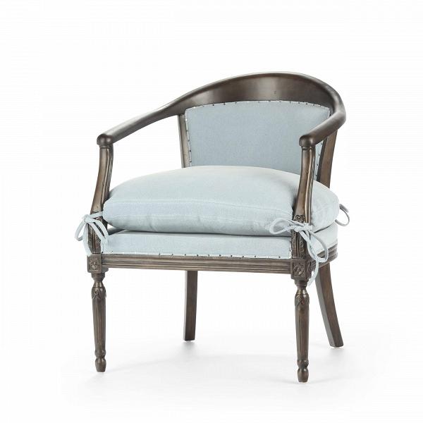 Кресло LinnИнтерьерные<br>Дизайнерское интерьерное мягкое кресло Linn (Линн) из дерева с тканевой обивкой от Cosmo (Космо).<br><br><br> Дизайнеры компании Cosmo не устают удивлять и радовать нас своими новыми разработками. Кресло Linn, несмотря на свою, казалось бы, простую форму, сразу же бросается в глаза: контраст между цветами каркаса и обивки, интересная, элегантная конструкция и оригинальные, симпатичные завязки не оставят вас равнодушным. Кресло Linn может легко влиться в дизайн интерьера в стиле прованс, кантри, ...<br><br>stock: 8<br>Высота: 79<br>Ширина: 63<br>Глубина: 63<br>Цвет ножек: Темно-коричневый<br>Материал ножек: Массив березы<br>Материал обивки: Хлопок, Лен<br>Тип материала обивки: Ткань<br>Тип материала ножек: Дерево<br>Цвет обивки: Голубой