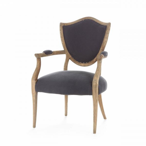Стул LennyИнтерьерные<br>Дизайнерский классический винтажный стул Lenny (Ленни) из массива дуба с мягким тканевым сиденьем и подлокотниками от Cosmo (Космо).<br><br> Стул Lenny — это сочетание изысканных черт классицизма и нарочитой грубости форм современного индустриального стиля. Великолепное мягкое сиденье и не менее роскошная спинка, выполненные в спокойном, приятном цвете, заключены в каркас из искусственно состаренного дуба, который смотрится просто и в то же время обладает притягательным шармом. Обивка стула предс...<br><br>stock: 8<br>Высота: 97<br>Высота сиденья: 48<br>Ширина: 66<br>Глубина: 66<br>Цвет ножек: Дуб<br>Материал ножек: Массив дуба<br>Материал сидения: Хлопок<br>Цвет сидения: Темно-синий<br>Тип материала сидения: Ткань<br>Тип материала ножек: Дерево