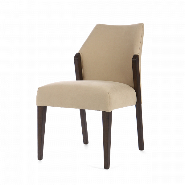 Стул DaltonИнтерьерные<br>Дизайнерский мягкий стул Dalton (Дэлтон) с обивкой из ткани на дубовом каркасе от Cosmo (Космо).<br><br>     Когда хочется неоднозначности в дизайне интерьера или же смешения различных стилей, на помощь дизайнерам приходят предметы мебели, которые легко смогут вписаться как в классический, так и в любой современный интерьер. Стул Dalton универсален по своему дизайну, выполнен в спокойных, гармоничных цветовых оттенках. Форма стула также не вызывает противоречивых чувств — классический дизайн с пр...<br><br>stock: 11<br>Высота: 86<br>Высота сиденья: 51<br>Ширина: 53<br>Глубина: 66<br>Цвет ножек: Темно-коричневый<br>Материал ножек: Массив дуба<br>Материал сидения: Хлопок<br>Цвет сидения: Темно-бежевый<br>Тип материала сидения: Ткань<br>Тип материала ножек: Дерево
