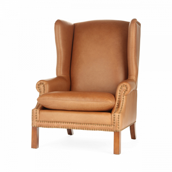 Кресло KellerИнтерьерные<br>Дизайнерское кожаное классическое коричневое кресло Keller (Келлер) с ушами от Cosmo (Космо).<br><br><br> Кресло Keller — это строгий стиль и твердый характер, которым пропитано все помещение. Кресло имеет четкие линии и элегантную форму. Дизайнеры компании Cosmo предлагают на выбор два варианта кресла: обивка цвета мокко или коричневая.<br><br><br> Каркас кресла изготовлен из необычайно прочной древесины, благодаря чему изделие прослужит вам не один десяток лет. В качестве обивки кресла дизайнеры выб...<br><br>stock: 1<br>Высота: 114<br>Ширина: 86<br>Глубина: 87<br>Цвет ножек: Коричневый<br>Материал ножек: Массив березы<br>Тип материала обивки: Кожа<br>Тип материала ножек: Дерево<br>Цвет обивки: Коричневый