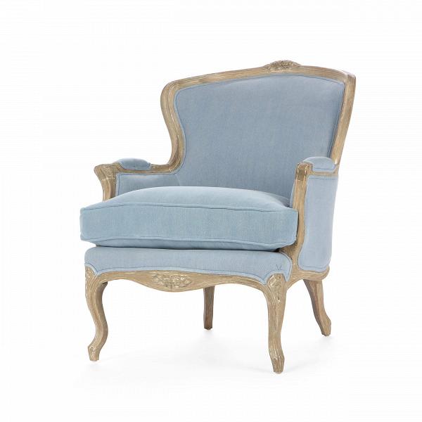 Кресло IreneИнтерьерные<br>Дизайнерское классическое светлое кресло Irene с резными деревянными деталями от Cosmo.<br><br><br> Дизайнеры, вдохновленные величественностью и роскошью старинного стиля ампир, создали кресло, которое, помимо великолепного оформления и некой «пышности» линий, отвечает всем требованиям современного интерьера и сможет легко вписаться как в интерьер с традиционным дизайном, так и выполненный в одном из современных стилей. Кресло предлагается в двух цветовых вариантах: светло-бежевом и голубом, что...<br><br>stock: 14<br>Высота: 89<br>Высота сиденья: 53<br>Ширина: 74<br>Глубина: 86.5<br>Цвет ножек: Светло-коричневый<br>Материал ножек: Состаренный массив дуба<br>Материал обивки: Хлопок, Лен<br>Тип материала обивки: Ткань<br>Тип материала ножек: Дерево<br>Цвет обивки: Голубой