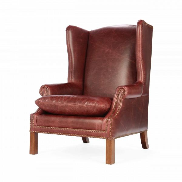 Кресло KellerИнтерьерные<br>Дизайнерское кожаное классическое коричневое кресло Keller (Келлер) с ушами от Cosmo (Космо).<br><br><br> Кресло Keller — это строгий стиль и твердый характер, которым пропитано все помещение. Кресло имеет четкие линии и элегантную форму. Дизайнеры компании Cosmo предлагают на выбор два варианта кресла: обивка цвета мокко или коричневая.<br><br><br> Каркас кресла изготовлен из необычайно прочной древесины, благодаря чему изделие прослужит вам не один десяток лет. В качестве обивки кресла дизайнеры выб...<br><br>stock: 3<br>Высота: 114<br>Ширина: 86<br>Глубина: 87<br>Цвет ножек: Коричневый<br>Материал ножек: Массив березы<br>Тип материала обивки: Кожа<br>Тип материала ножек: Дерево<br>Цвет обивки: Мокко