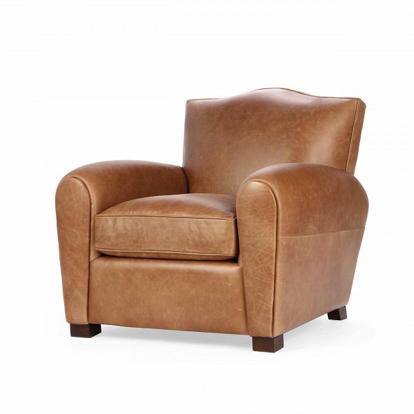 Кресло HarrisonИнтерьерные<br>Дизайнерское коричневое современное кожаное кресло Harrison (Хэррисон) от  Cosmo (Космо).<br><br><br> Дизайнеры компании Cosmo не устают радовать нас интересными новинками. Представленное здесь кресло Harrison являет собой традиционную строгую классику, без лишних деталей и чрезмерного оформления. Кресло имеет «пузатую» форму, что придает ему особый уют и комфортность. Благодаря широкой спинке и удобному сиденью вы сможете отдохнуть в нем с максимальным удобством. Кресло выполнено в коричневом ц...<br><br>stock: 2<br>Высота: 87<br>Ширина: 92<br>Глубина: 97<br>Цвет ножек: Коричневый<br>Материал ножек: Массив березы<br>Тип материала обивки: Кожа<br>Тип материала ножек: Дерево<br>Цвет обивки: Коричневый