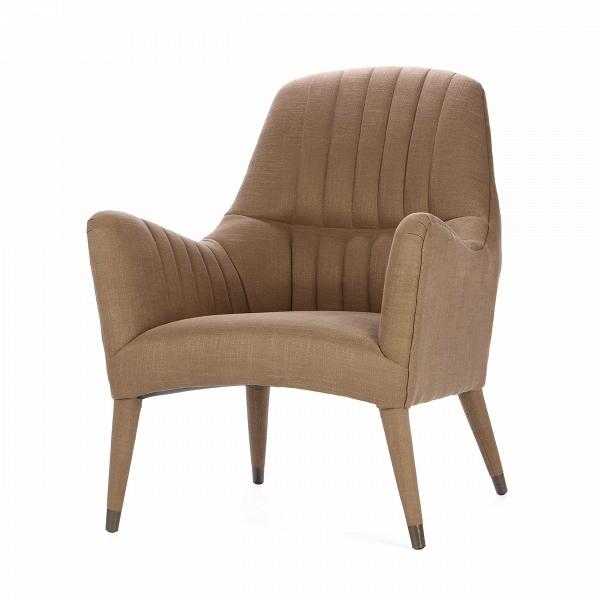 Кресло SalvadorИнтерьерные<br>Дизайнерское глубокое удобное дизайнерское кресло Salvador классической формы от Cosmo.<br><br><br> Строгость в цветовом оформлении и плавность и мягкость линий — вот она, формула идеального кресла, которое способно подарить замечательный отдых и расслабление. Приятные, спокойные цвета вызывают умиротворение и притягивают взгляд, а благодаря особой форме кресла Salvador, которая словно «обтекает» тело и позволяет разместиться с полным комфортом, вы сможете замечательно отдохнуть с чашечкой чая и...<br><br>stock: 0<br>Высота: 96.5<br>Высота сиденья: 47<br>Ширина: 76<br>Глубина: 86<br>Цвет ножек: Коричневый<br>Материал ножек: Массив березы<br>Материал обивки: Лен, Полиэстер, Вискоза<br>Тип материала обивки: Ткань<br>Тип материала ножек: Дерево<br>Цвет обивки: Коричневый