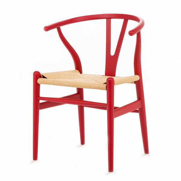 Стул Wishbone окрашеныйИнтерьерные<br>Дизайнерский деревянный стул Wishbone (Уишбон) с бумажным сиденьем от Cosmo (Космо).<br><br> Стул Wishbone был разработан вВ1949 году передовым датским дизайнером мебели Хансом Вегнером. Стул Wishbone был создан под впечатлением отВпросмотра классических портретов датских торговцев, сидящих наВкитайских стульях династии Мин. Свое название стул Wishbone («вилка») получил заВспецифическую форму спинки сиденья.<br><br><br> Также известный как CH24, стул Wishbone окрашенный широко испо...<br><br>stock: 0<br>Высота: 76<br>Высота сиденья: 45<br>Ширина: 55,5<br>Глубина: 53,5<br>Материал каркаса: Массив бука<br>Тип материала каркаса: Дерево<br>Цвет сидения: Бежевый<br>Тип материала сидения: Корд бумажный<br>Цвет каркаса: Тёмно-красный матовый<br>Дизайнер: Hans Wegner