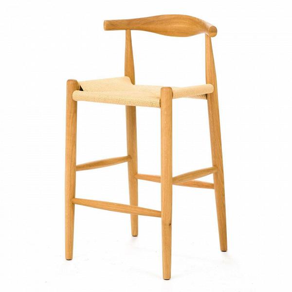 Барный стул ElbowБарные<br>Дизайнерский легкий деревянный барный стул Elbow (Илбоу) с бежевым сиденьем от Cosmo (Космо). <br><br> Если вас пугают эксперименты и экстравагантные формы или ваш интерьер выдержан в эстетике минимализма, вВарсенале культового датского дизайнера Ханса Вегнера найдется ряд классических моделей для безупречно элегантной обстановки. В шестидесятые, годы расцвета поп-арта и смелых форм, дизайн Вегнера остался незамеченным. У современных любителей классики есть уникальный шанс оценить этот гимн...<br><br>stock: 1<br>Высота: 98<br>Высота сиденья: 71<br>Ширина: 55<br>Глубина: 50,5<br>Материал каркаса: Массив бука<br>Тип материала каркаса: Дерево<br>Цвет сидения: Бежевый<br>Тип материала сидения: Корд бумажный<br>Цвет каркаса: Светло-коричневый<br>Дизайнер: Hans Wegner