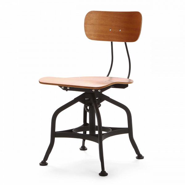 Стул ToledoИнтерьерные<br>Дизайнерский деревянный стул Toledo (Толедо) с регулировкой высоты от Cosmo (Космо).<br><br> CтулВToledo 1920 года — прекрасный элемент интерьера в индустриальном стиле. Предмет функционален и лаконичен, при всей своей непритязательности он может стать выразительным акцентом, придав пространству особую атмосферу.<br><br><br> Сиденье и спинка изготовлены из натурального клена и имеют плавные эргономичные изгибы, специальный механизм позволяет менять высоту спинки. Хитрая система ножек из стали нап...<br><br>stock: 16<br>Высота: 80<br>Высота сиденья: 42-53<br>Ширина: 42<br>Глубина: 48<br>Тип материала каркаса: Сталь<br>Материал сидения: Фанера, шпон гевеи<br>Цвет сидения: Коричневый<br>Тип материала сидения: Дерево<br>Цвет каркаса: Черный