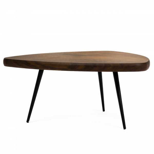 Кофейный стол CharlotteКофейные столики<br>Дизайнерский кофейный стол Charlotte (Шарлотта) с треугольной столешницей на трех ножках от Cosmo (Космо).<br><br><br><br><br>Кофейный стол Charlotte — это простые иВчистые линии, интегрированные вВваш интерьер. Кофейный стол разработан американским дизайнером Шоном Диксом, он имеет необычный дизайн и удивительно удобен в использовании за счет своей треугольной формы. Мебель Шона Дикса минималистична иВинтеллектуальна, прекрасно обработана иВочень функциональна. Она несет вВ...<br><br>stock: 0<br>Высота: 33<br>Ширина: 75<br>Диаметр: 74<br>Цвет ножек: Черный<br>Материал каркаса: Фанера, шпон ореха<br>Тип материала каркаса: Фанера<br>Тип материала ножек: Сталь<br>Цвет каркаса: Орех американский<br>Дизайнер: Sean Dix