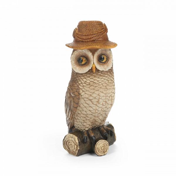Статуэтка BonnetНастольные<br>Дизайнерская коричневая статуэтка Bonnet (Банит) из смолы в форме совы сидящей на бревне от Cosmo (Космо).<br><br><br><br> Любителям веселого или забавного стиля в интерьере всегда в радость интересные сочетания, необычные фигурки и забавные панно. Главное, чтобы декоративные элементы заставляли любого наблюдателя улыбнуться и всегда поднимали настроение. Не стоит бояться экспериментов — именно в них рождаются замечательные дизайны и самая жизнерадостная домашняя обстановка. Особенно хорошо такой ...<br><br>stock: 5<br>Высота: 16.1<br>Ширина: 5.9<br>Материал: Смола<br>Цвет: Коричневый<br>Длина: 8.5<br>Цвет дополнительный: Красный, зеленый