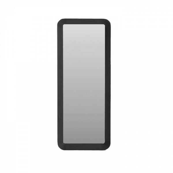 Настенное зеркало Velodrome прямоугольноеНастенные<br>«Я буду долго гнать велосипед» — всплывает в голове строчка из популярного шлягера при взгляде на это геометричное зеркало с запоминающимся названием. Похожими ассоциациями руководствовался и его создатель, дизайнер из Канзаса Шон Дикс, который славится своими лаконичными творениями без лишних деталей.<br><br><br> Однажды он рассматривал фактурные следы от шин на велодроме и решил воссоздать поверхность и текстуру в контрасте гладкого стекла и чуть неровной и шероховатой натуральной рамы из де...<br><br>stock: 0<br>Высота: 190<br>Ширина: 70<br>Материал: Дуб красный шпон<br>Цвет: Черный<br>Дизайнер: Sean Dix