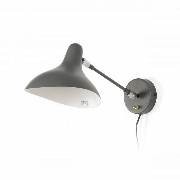 Настенный светильник MantisНастенные<br>Настенный светильник Mantis — это работа дизайнера Бернарда Шоттландера, которую он создал в 1951 году. Сам художник считает себя «дизайнером интерьеров и скульптором экстерьеров», поэтому его известный «богомол» (так переводится название светильника), может настраиваться по высоте и сгибу в зависимости от нужд владельца. Светильник очень изящный — тонкие линии и плавные текучие формы. В нем воплощена грация творений природы, простых и прекрасных.<br><br><br> Настенный светильник Mantis сделан и...<br><br>stock: 0<br>Высота: 45<br>Диаметр: 11<br>Количество ламп: 1<br>Материал абажура: Сталь<br>Материал арматуры: Сталь<br>Мощность лампы: 40<br>Ламп в комплекте: Нет<br>Напряжение: 220-240<br>Тип лампы/цоколь: E14<br>Цвет абажура: Темно-серый<br>Цвет арматуры: Темно-серый<br>Цвет провода: Черный