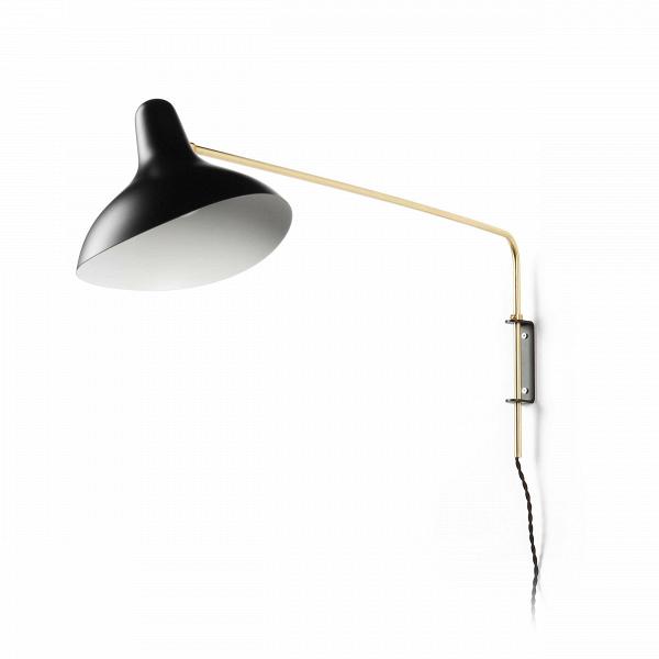 Настенный светильник Mantis RodНастенные<br>Настенный светильник Mantis Rod — это работа дизайнера Бернарда Шоттландера, которую он создал в 1951 году. Сам художник считает себя «дизайнером интерьеров и скульптором экстерьеров», поэтому его известный «богомол» (так переводится название светильника), может настраиваться по высоте и сгибу в зависимости от нужд владельца.<br><br><br> Настраиваемый функционал — одно из главных достоинств этого светильника. Очень удобно иметь возможность направить свет так, чтобы он падал под идеальным углом,...<br><br>stock: 0<br>Ширина: 30<br>Длина: 101<br>Количество ламп: 1<br>Материал абажура: Алюминий<br>Материал арматуры: Металл<br>Мощность лампы: 40<br>Ламп в комплекте: Нет<br>Напряжение: 220-240<br>Тип лампы/цоколь: E14<br>Цвет абажура: Черный<br>Цвет арматуры: Латунь<br>Цвет провода: Черный