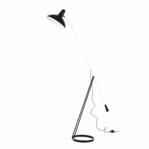 Напольный светильник FlorisНапольные<br>Напольный светильник Floris был создан голландским дизайнером по имени Флорис Фиделдей для компании Aritmeta в середине двадцатого века. Сегодня компания Cosmo представляет вам копию этого известного осветительного прибора в стиле модерн.<br><br><br> Флорис Фиделдей создала этот напольный светильник под влиянием природы. Особенно сильным вдохновением послужили маленькие и хрупкие насекомые. Тонкие лапки и вытянутые тельца насекомых воплощены в узенькой длинной ножке и невесомой опоре светильник...<br><br>stock: 0<br>Высота: 167<br>Ширина: 28<br>Длина: 142<br>Количество ламп: 1<br>Материал абажура: Алюминий<br>Материал арматуры: Сталь<br>Мощность лампы: 60<br>Ламп в комплекте: Нет<br>Напряжение: 220-240<br>Тип лампы/цоколь: E27<br>Цвет абажура: Черный<br>Цвет арматуры: Черный<br>Цвет провода: Черный
