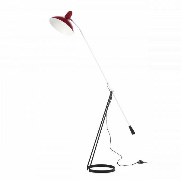 Напольный светильник FlorisНапольные<br>Напольный светильник Floris был создан голландским дизайнером по имени Флорис Фиделдей для компании Aritmeta в середине двадцатого века. Сегодня компания Cosmo представляет вам копию этого известного осветительного прибора в стиле модерн.<br><br><br> Флорис Фиделдей создала этот напольный светильник под влиянием природы. Особенно сильным вдохновением послужили маленькие и хрупкие насекомые. Тонкие лапки и вытянутые тельца насекомых воплощены в узенькой длинной ножке и невесомой опоре светильник...<br><br>stock: 0<br>Высота: 167<br>Ширина: 28<br>Длина: 142<br>Количество ламп: 1<br>Материал абажура: Алюминий<br>Материал арматуры: Сталь<br>Мощность лампы: 60<br>Ламп в комплекте: Нет<br>Напряжение: 220-240<br>Тип лампы/цоколь: E27<br>Цвет абажура: Красный<br>Цвет арматуры: Черный<br>Цвет провода: Черный