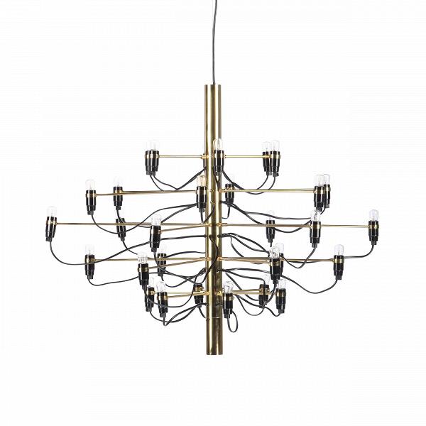 Подвесной светильник Model 2097 30 лампПодвесные<br>Подвесной светильник Model 2097 30 ламп — одна из самых популярных и лучших работ известного итальянского дизайнера Джино Сарфатти. Его называют отцом итальянского светодизайна. За свою долгую жизнь он удостоился множества наград, дважды — премии Compasso dOro, или «Золотой циркуль», в 1954 и 1955 годах.<br><br><br> Подвесной светильник Model 2097 30 ламп создан Джино Сарфатти в 1958 году, но его облик и сегодня считается ультрасовременным, неустаревающим, модным. Целей у именитого итальянца бы...<br><br>stock: 5<br>Высота: 71<br>Диаметр: 89<br>Длина провода: 300<br>Количество ламп: 30<br>Материал абажура: Сталь<br>Мощность лампы: 15<br>Ламп в комплекте: Да<br>Напряжение: 220-240<br>Тип лампы/цоколь: E14<br>Цвет абажура: Латунь<br>Цвет провода: Черный<br>Дизайнер: Gino Sarfatti