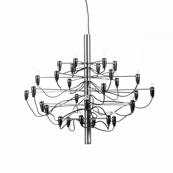 Подвесной светильник Model 2097 30 лампПодвесные<br>Подвесной светильник Model 2097 30 ламп — одна из самых популярных и лучших работ известного итальянского дизайнера Джино Сарфатти. Его называют отцом итальянского светодизайна. За свою долгую жизнь он удостоился множества наград, дважды — премии Compasso dOro, или «Золотой циркуль», в 1954 и 1955 годах.<br><br><br> Подвесной светильник Model 2097 30 ламп создан Джино Сарфатти в 1958 году, но его облик и сегодня считается ультрасовременным, неустаревающим, модным. Целей у именитого итальянца бы...<br><br>stock: 2<br>Высота: 71<br>Диаметр: 89<br>Длина провода: 300<br>Количество ламп: 30<br>Материал абажура: Сталь<br>Мощность лампы: 15<br>Ламп в комплекте: Да<br>Напряжение: 220-240<br>Тип лампы/цоколь: E14<br>Цвет абажура: Сталь<br>Цвет провода: Черный<br>Дизайнер: Gino Sarfatti