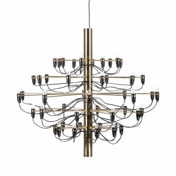 Подвесной светильник Model 2097 50 лампПодвесные<br>Подвесной светильник Model 2097 50 ламп — одна из самых популярных и лучших работ известного итальянского дизайнера Джино Сарфатти. Его называют отцом итальянского светодизайна. За свою долгую жизнь он удостоился множества наград, дважды — премии Compasso dOro, или «Золотой циркуль», в 1954 и 1955 годах.<br><br><br> Подвесной светильник Model 2097 50 ламп создан Джино Сарфатти в 1958 году, но его облик и сегодня считается ультрасовременным, неустаревающим, модным. Целей у именитого итальянца бы...<br><br>stock: 2<br>Высота: 88<br>Диаметр: 100<br>Длина провода: 300<br>Количество ламп: 50<br>Материал абажура: Сталь<br>Мощность лампы: 15<br>Ламп в комплекте: Да<br>Напряжение: 220-240<br>Тип лампы/цоколь: E14<br>Цвет абажура: Латунь<br>Цвет провода: Черный<br>Дизайнер: Gino Sarfatti