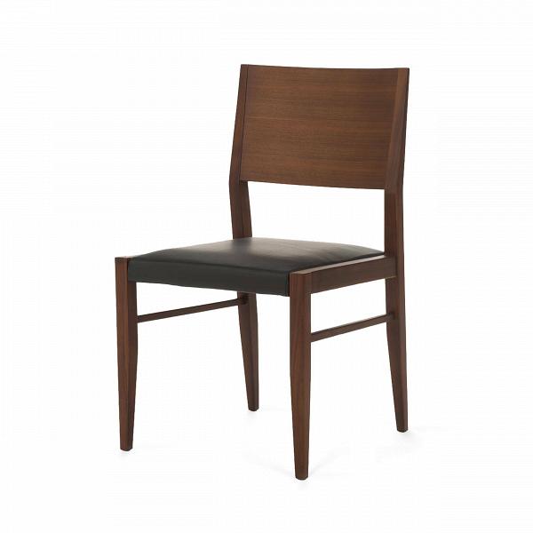 Стул James Tan высота 85 смИнтерьерные<br>Дизайнерский деревянный легкий стул James Tan (Джемс Тан) высота 85 см из ясеня классической формы с кожаным сиденьем от Cosmo (Космо).<br><br> Стул James Tan нельзя назвать верхушкой дизайнерской фантазии, однако он все же является оригинальным и необычным. При этом купить стул James Tan высота 85 см означает то, что каким бы ни был интерьер до этого, ярким или простым, с появлением такого ультрамодного, но при этом максимально спокойного и стильного предмета он примет новый облик и заиграет нов...<br><br>stock: 0<br>Высота: 85<br>Высота сиденья: 45,5<br>Ширина: 49<br>Глубина: 52<br>Материал каркаса: Массив ореха<br>Тип материала каркаса: Дерево<br>Цвет сидения: Черный<br>Тип материала сидения: Кожа<br>Коллекция ткани: Standart Leather<br>Цвет каркаса: Орех