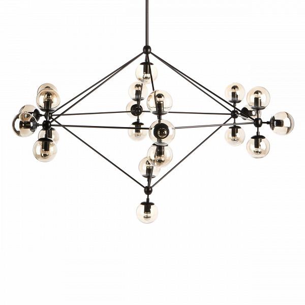 Подвесной светильник Modo ChandelierПодвесные<br>Во время очередной прогулки по Канал-стрит, что недалеко от его студии в Бруклине, дизайнер Джейсон Миллер почувствовал прилив вдохновения, который привел к созданию подвесного светильника Modo Chandelier. «Пусть улица, где меня посетила эта идея, достаточно обычна и непримечательна, сам светильник выглядит очень утонченным и оригинальным», — говорит по этому поводу сам Джейсон.<br><br><br> Для создания светильникаВиспользуются дорогие и качественные материалы, поэтому подвесной светильни...<br><br>stock: 0<br>Высота: 235<br>Диаметр: 170<br>Количество ламп: 21<br>Материал абажура: Стекло<br>Материал арматуры: Металл<br>Мощность лампы: 5<br>Ламп в комплекте: Нет<br>Напряжение: 220<br>Тип лампы/цоколь: E27<br>Цвет абажура: Прозрачный<br>Цвет арматуры: Черный<br>Дизайнер: Jason Miller