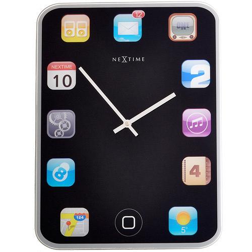 Настенные часы WALLPAD (3022)Часы<br>Артикул: 3022. Дизайн этих ультрасовременных часов в январе 2012 года получил приз на выставке Maison &amp; Objet в Париже. Использование популярной иконографии Apple и доступность данной модели широкому кругу ее почитателей были оценены жюри по достоинству. Если вы следите за модными новинками в сфере технического прогресса, эти часы созданы для вас! Дизайн: Nextime, Нидерланды.<br><br>stock: 110<br>Высота: 40<br>Ширина: 30<br>Материал: Стекло<br>Цвет: Мульти<br>Размер: 40 x 30 см<br>Страна происхождения: Нидерланды