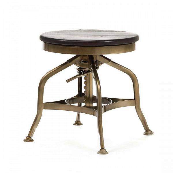 Табурет ToledoТабуреты<br>В конце XIX века в Америке двое братьев открыли мастерскую по ремонту велосипедов. Спустя несколько лет количество братьев, принимающих участие в проекте, увеличилось до десяти, семейное дело давало приличный доход, и было принято решение производить предметы мебели: столы и стулья из стали. К 1910 году они приобрели завод, и появилась Uhl Art Steel Company, подарившая миру знаменитую мебель «Толедо».<br><br><br> Круглое вращающееся сиденье сделано из обработанного натурального дерева изумител...<br><br>stock: 0<br>Высота: 40-51<br>Диаметр: 39<br>Тип материала каркаса: Сталь<br>Материал сидения: Массив ивы<br>Цвет сидения: Темно-коричневый<br>Тип материала сидения: Дерево<br>Цвет каркаса: Бронза пушечная
