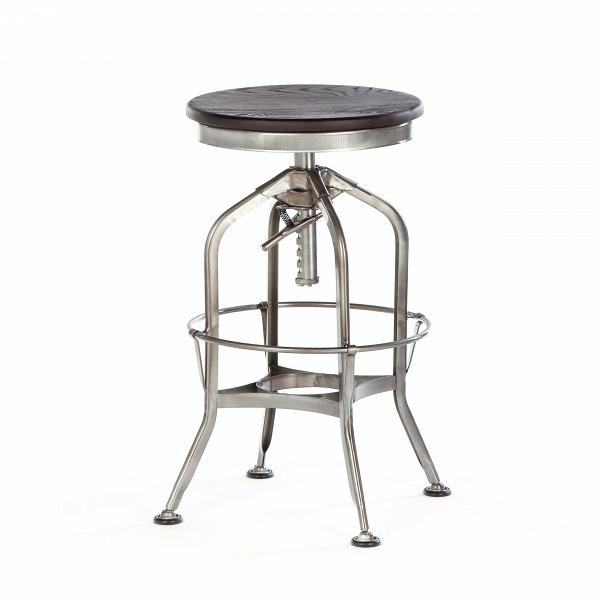 Барный стул Toledo Rondeau без спинкиБарные<br>Дизайнерский  металлический барный стул Toledo Rondeau (Толедо Рондо) без спинки с деревянным сиденьем от Cosmo (Космо).<br><br> Удобный и легкий барный стул Toledo Rondeau без спинки подходит для тех, кто ценит естественный симбиоз эстетичного дизайна и высокого качества. Сочетание стали и дерева выгоднее всего будет смотреться с кирпичной кладкой лофта или в сочетании с деревянными панелями, также эта модель будет органична в интерьерах эко или индустриального стиля.<br><br><br> Изначально стул был...<br><br>stock: 0<br>Высота: 62-73<br>Диаметр: 42<br>Цвет ножек: Бронза пушечная<br>Материал сидения: Массив ясеня<br>Цвет сидения: Темно-коричневый<br>Тип материала сидения: Дерево<br>Тип материала ножек: Сталь