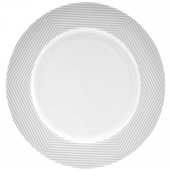 Тарелка MALVERN (BAM38577)Посуда<br>Артикул: BAM38577. Сочные и яркие оттенки летних блюд подчеркнут белоснежную изысканность тарелки MALVERN. На такую тарелку поместится все разнообразие приготовленных закусок. Поиграть с сервировкой в стиле инь и янь можно, заказав набор суповых тарелок серого цвета. Дизайн: Salt&amp;Pepper, Австралия.<br><br>stock: 72<br>Материал: Фарфор<br>Цвет: Серый<br>Размер: None<br>Диаметр: 27<br>Страна происхождения: Австралия