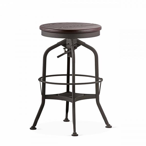 Барный стул Toledo Rondeau без спинкиБарные<br>Дизайнерский  металлический барный стул Toledo Rondeau (Толедо Рондо) без спинки с деревянным сиденьем от Cosmo (Космо).<br><br> Удобный и легкий барный стул Toledo Rondeau без спинки подходит для тех, кто ценит естественный симбиоз эстетичного дизайна и высокого качества. Сочетание стали и дерева выгоднее всего будет смотреться с кирпичной кладкой лофта или в сочетании с деревянными панелями, также эта модель будет органична в интерьерах эко или индустриального стиля.<br><br><br> Изначально стул был...<br><br>stock: 0<br>Высота: 62-73<br>Диаметр: 42<br>Цвет ножек: Черный<br>Материал сидения: Массив ясеня<br>Цвет сидения: Темно-коричневый<br>Тип материала сидения: Дерево<br>Тип материала ножек: Сталь