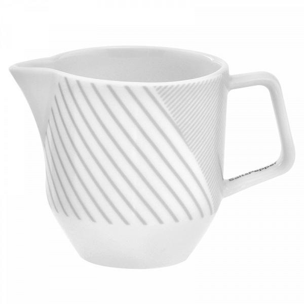 Молочник MALVERN (BAM38587)Посуда<br>Артикул: BAM38587. Чистота и совершенство белого цвета, теплота и богатство фарфора нашли свое воплощение в молочнике MALVERN. Сливки для кофе или легкое молоко для чая почувствуют себя комфортно в таком элегантном предмете коллекции MALVERN от Salt&amp;Pepper. Чаепитие в духе английских королей дополнит заказанная в интернет-магазине стильная сахарница из светящегося фарфора. Дизайн: Salt&amp;Pepper, Австралия.<br><br>stock: 210<br>Материал: Фарфор<br>Цвет: Серый<br>Страна происхождения: Австралия
