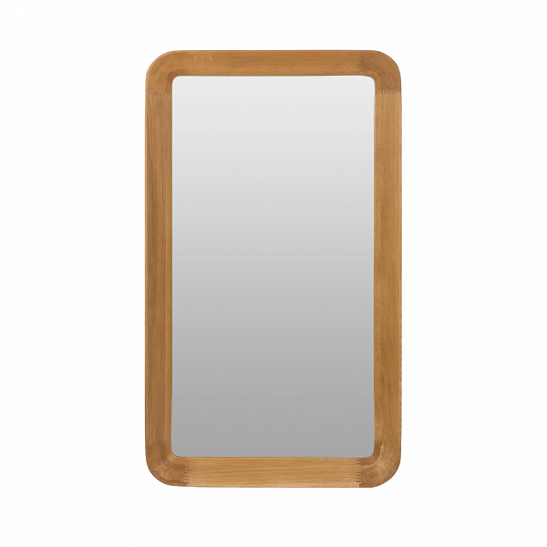 Настенное зеркало Velodrome прямоугольноеНастенные<br>«Я буду долго гнать велосипед» — всплывает в голове строчка из популярного шлягера при взгляде на это геометричное зеркало с запоминающимся названием. Похожими ассоциациями руководствовался и его создатель, дизайнер из Канзаса Шон Дикс, который славится своими лаконичными творениями без лишних деталей.<br><br><br> Однажды он рассматривал фактурные следы от шин на велодроме и решил воссоздать поверхность и текстуру в контрасте гладкого стекла и чуть неровной и шероховатой натуральной рамы из де...<br><br>stock: 0<br>Высота: 120<br>Ширина: 70<br>Материал: Дуб белый<br>Цвет: Натуральный/Natural<br>Диаметр: 9,5<br>Дизайнер: Sean Dix