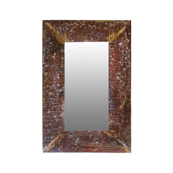 Зеркало Свет мой зеркальце высота 90Настенные<br>Зеркало Свет мой зеркальце высота 90 выполнено из массива древесины старого рыбацкого судна, такой как тик, махагон, суар, с сохранением оригинальной многослойной окраски. Древесина обладает высокой износостойкостью, долговечностью и водоотталкивающими свойствами. Ее использовали индонезийские рыбаки для создания лодок, а мебель из нее подходит для использования как внутри помещения, так и снаружи. Покрыто натуральным шеллаком.<br><br><br> Зеркало Свет мой зеркальце высота 90 сделано из частей т...<br><br>stock: 0<br>Высота: 90<br>Ширина: 90<br>Глубина: 4<br>Материал: Тик<br>Цвет: Красный