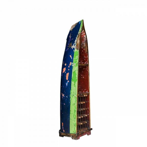 Стеллаж-лодка для вина БарбароссаСтеллажи<br>Стеллаж-лодка для вина Барбаросса — это винный шкаф, выполненный из старой рыбацкой лодки классической правильной формы с сохранением оригинальной многослойной окраски. Возраст лодки 15–35 лет. Предположительное место обитания – остров Ява (Центральная Индонезия). Лодка изготовлена из массива дерева по традиционной народной технике дагаут (dugout), что означает «лодка, выдолбленная из ствола дерева».<br> <br> Стеллаж-лодка для вина Барбаросса изготовлен из ценных твердых пород древесины (тик, мах...<br><br>stock: 0<br>Высота: 220<br>Ширина: 51<br>Глубина: 63<br>Материал каркаса: Тик<br>Цвет каркаса: Синий